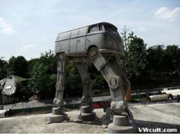 VW Bus walking transformer