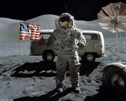 VW Bus on the Moon