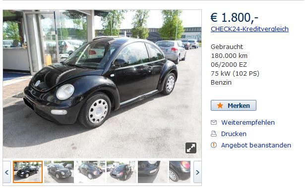 Find and Buy Volkswagen NewBeetle