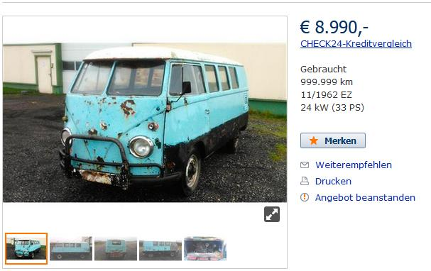 Find and Buy Volkswagen Bus T1
