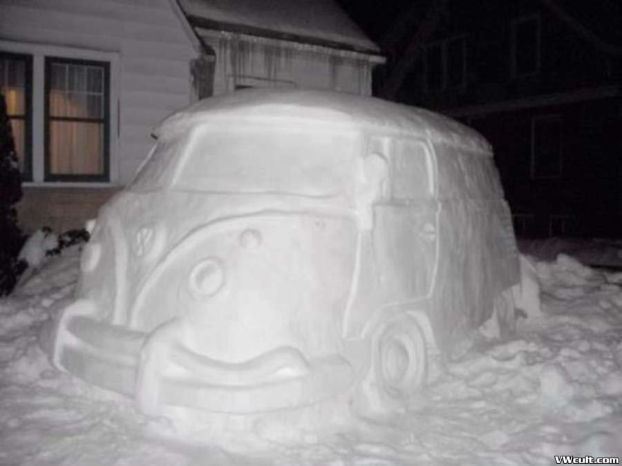 VW made from snow