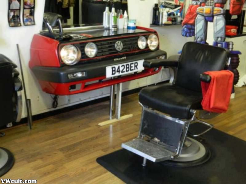 Barber and VW fan