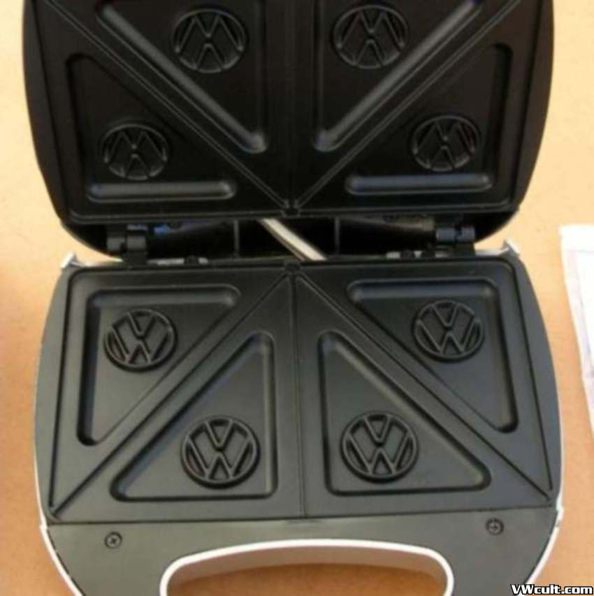 Toaster with VW logo