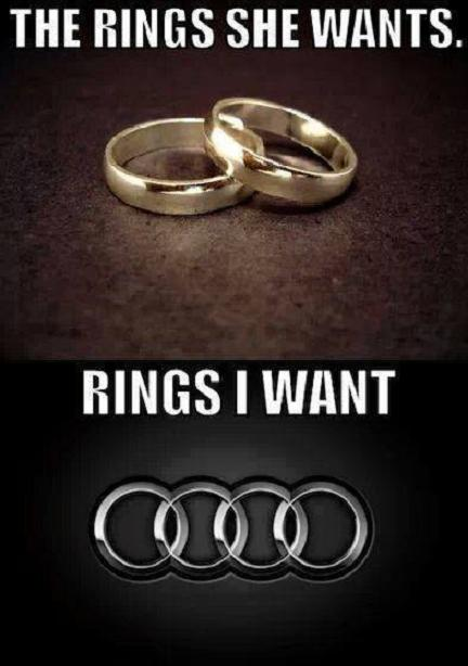 Rings she wants, and rings I want.
