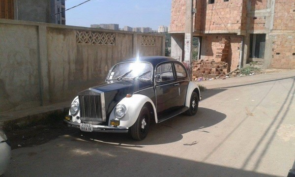 VW Beetle as. Rolls Royce