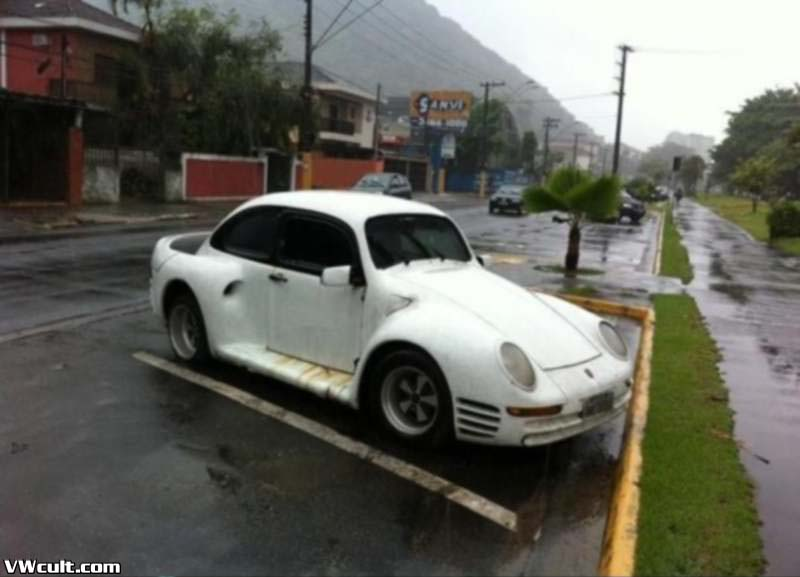 VW Beetle as Porsche